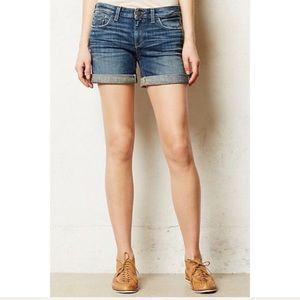 Anthro Pilcro Stet Rolled-up Denim Shorts 26